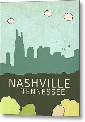 Nashville Metal Print by Lisa Barbero