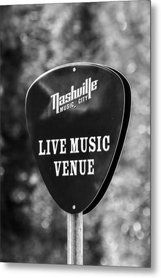 Nashville Music City Sign Metal Print