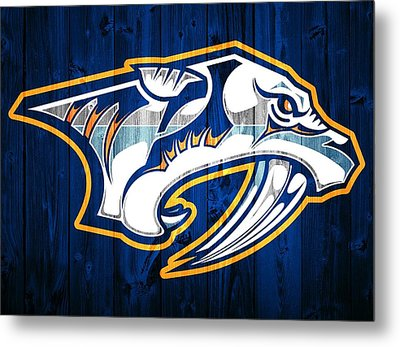 Nashville Predators Barn Door Metal Print by Dan Sproul