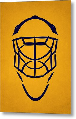 Nashville Predators Goalie Mask Metal Print by Joe Hamilton