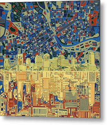 Nashville Skyline Abstract 9 Metal Print