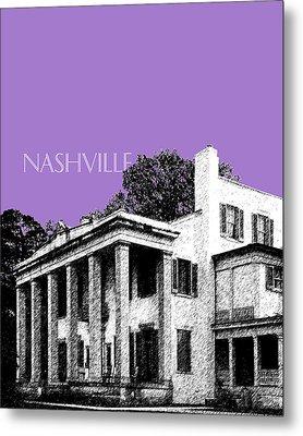 Nashville Skyline Belle Meade Plantation - Violet Metal Print by DB Artist