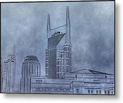 Nashville Skyline Sketch Metal Print by Dan Sproul