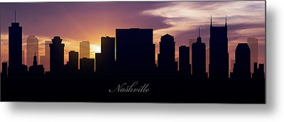 Nashville Sunset Metal Print by Aged Pixel