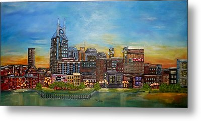Nashville Tennessee Metal Print by Annamarie Sidella-Felts
