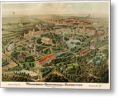 Nashville Tennessee Centennial Exposition Map 1897 Metal Print by Mountain Dreams