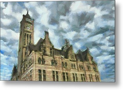 Nashville's Union Station Painted Metal Print by Dan Sproul