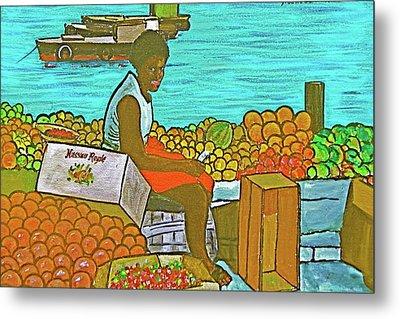 Nassau Fruit Seller Metal Print by Frank Hunter