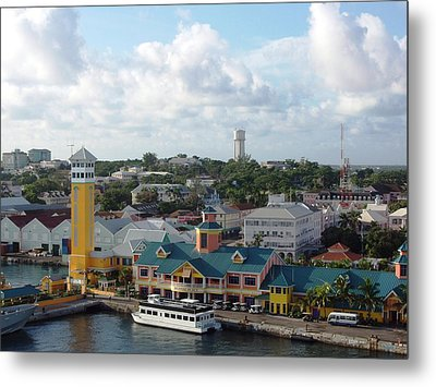 Metal Print featuring the photograph Nassau In The Bahamas by Teresa Schomig