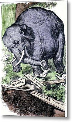 Nast Republican Elephant Metal Print by Granger