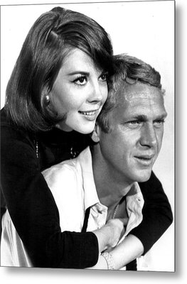 Natalie Wood With Steve Mcqueen Metal Print by Retro Images Archive