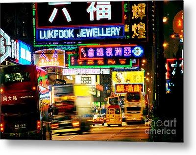Nathan Road Hong Kong  Metal Print by Colin Woods