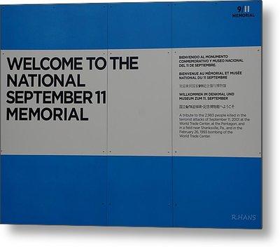 National 9/11 Memorial  Metal Print by Rob Hans