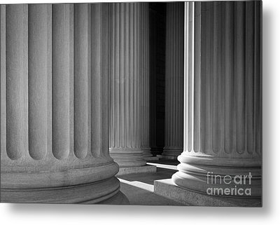 National Archives Columns Metal Print by Inge Johnsson