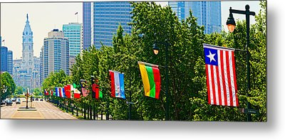 National Flags Of The Countries Metal Print by Panoramic Images