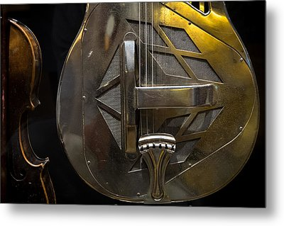 National Guitar Metal Print by Glenn DiPaola