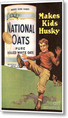 National Oats 1920s Usa Cereals Metal Print by The Advertising Archives