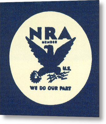 National Recovery Act Symbol Metal Print by Underwood Archives