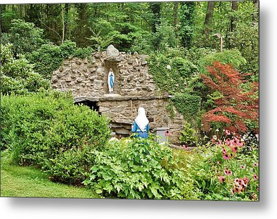 National Shrine Grotto Of Our Lady Of Lourdes Metal Print