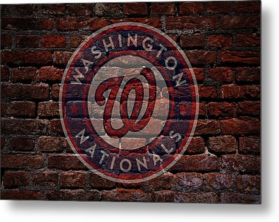 Nationals Baseball Graffiti On Brick  Metal Print by Movie Poster Prints