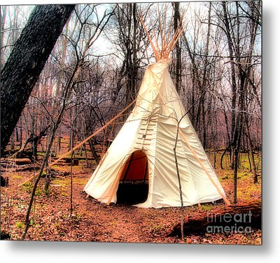 Native American Abode Metal Print by Jimmy Ostgard