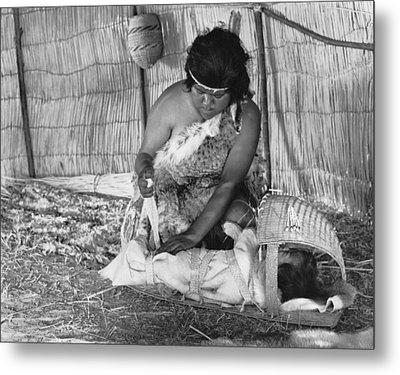 Native American Baby Cradle Metal Print