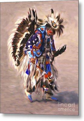 Native American Dancer Metal Print by Clare VanderVeen