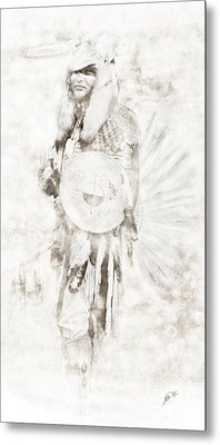 Metal Print featuring the digital art Native American by Erika Weber