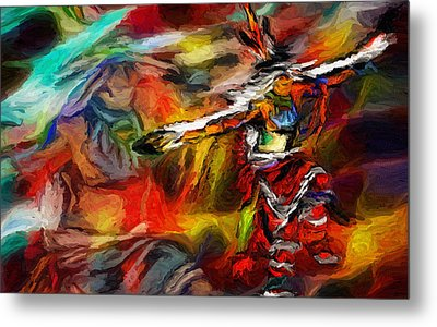 Native American Indian Dance Metal Print by Ray Van Gundy