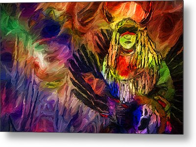 Native American Indian Metal Print by Ray Van Gundy