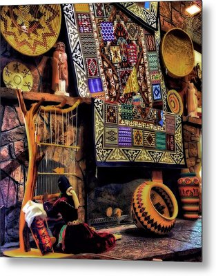 Native American Pottery And Crafts Metal Print by Dan Sproul