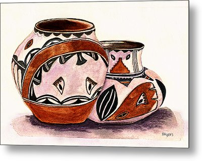 Native American Pottery Metal Print by Paula Ayers