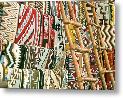 Native American Rugs Metal Print by Julien Mcroberts