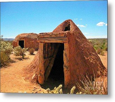 Native American Shelters Metal Print by John Malone