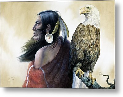 Native Americans Metal Print by Gregory Perillo