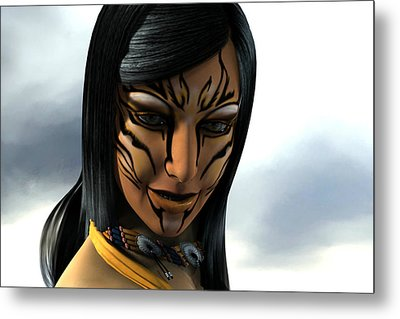 Native Beauty Metal Print by Aeabia A