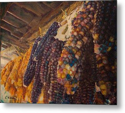 Native Corn Offerings Metal Print by Carla Woody