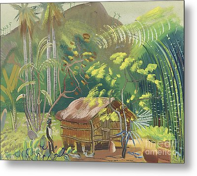 Native Hut Brazil Metal Print by Celestial Images