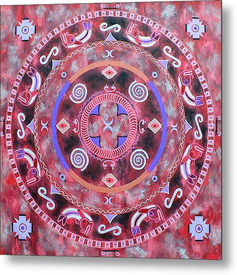 Native Mandala Metal Print by Vlatka Kelc