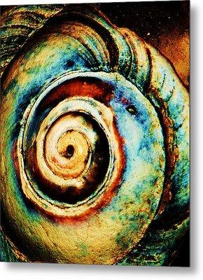 Native Spiral Metal Print
