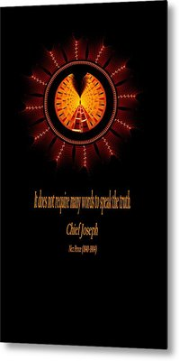 Native Truth - Chief Joseph Metal Print