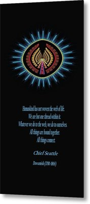 Native Truth - Chief Seattle Metal Print