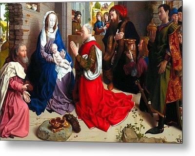 Nativity And Adoration Of The Magi Metal Print by Munir Alawi