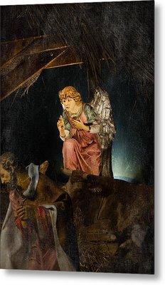 Nativity Angel  Metal Print by Susan  McMenamin
