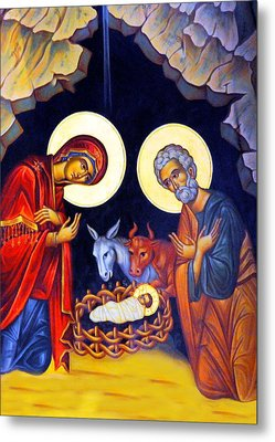 Nativity Feast Metal Print