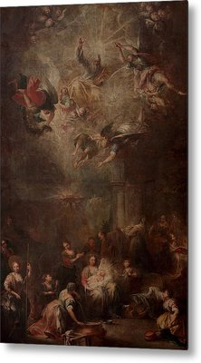 Nativity Of Mary Metal Print by Andrea Celesti