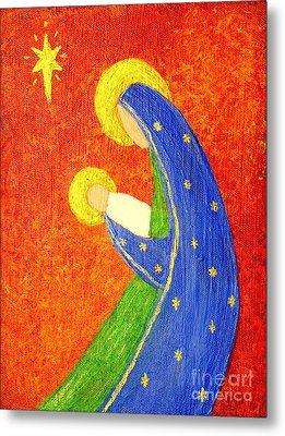 Nativity Metal Print by Pattie Calfy