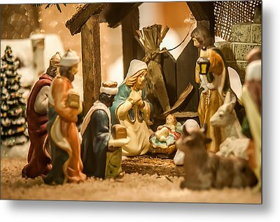 Metal Print featuring the photograph Nativity Set by Alex Grichenko