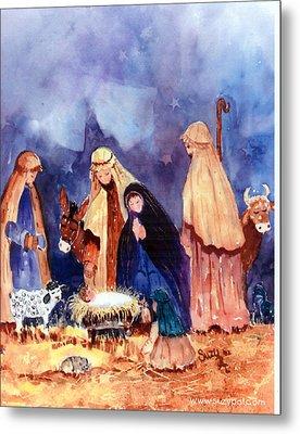 Nativity Metal Print by Suzy Pal Powell