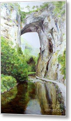 Natural Bridge Metal Print by J Luis Lozano